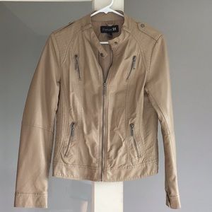 Forever 21 pleather moto jacket